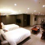 無事、韓国&ホテルに到着しました!部屋がキレイで満足です(^^)でも文字がまったく読めません(笑)