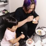 江戸川橋の美容院〜ASPILEAF#姪っ子とコンテストの生徒#仲良くケーキを食べる