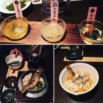 梅酒の飲み比べと鮎の釜飯♪〆にお茶漬けです♪